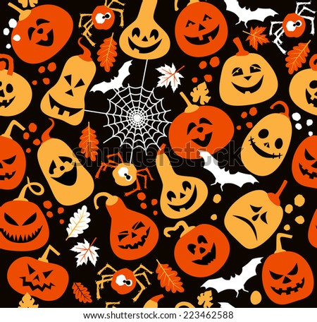 Seamless pattern of halloween.