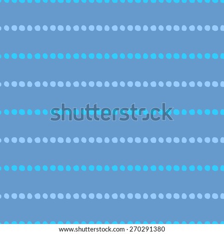 Seamless pattern of hand-drawn circles of light blue and purple circles on a blue background - stock vector