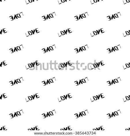 Seamless pattern of hand made doodle vector LOVE letters