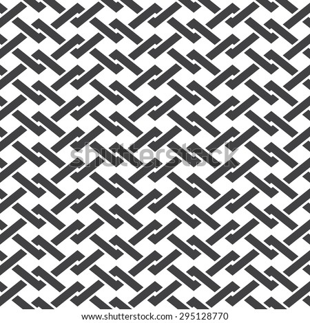 Seamless pattern of intersecting polygonal line with swatch for filling. Celtic chain mail. Fashion geometric background for web or printing design. - stock vector