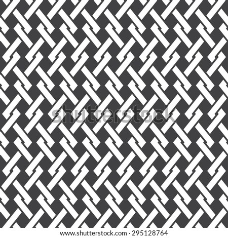 Seamless pattern of intersecting polylines with swatch for filling. Celtic chain mail. Fashion geometric background for web or printing design. - stock vector