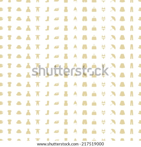 seamless pattern of items clothing and household. Vector - stock vector