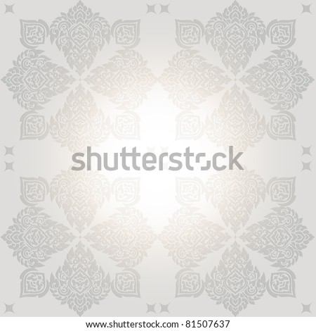 Seamless pattern  of lai thai, Lai Thai in traditional Thai style painting art - stock vector