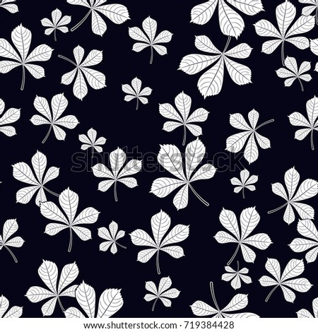 seamless pattern of leaves on background