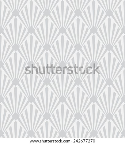 seamless pattern of monochrome art deco sunburst - stock vector