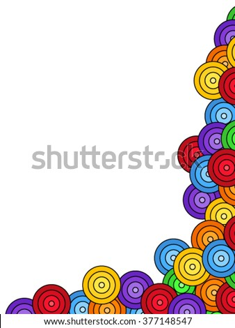 Seamless pattern of overlaid colorful circles