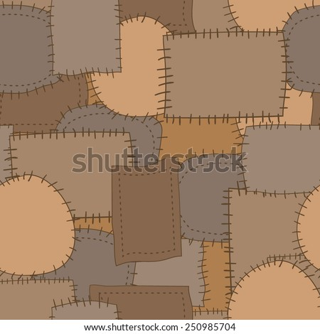 Seamless pattern of patches 4. Vector background