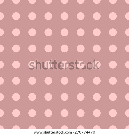 Seamless pattern of repeating a great circle on a red background light pale pink circles - stock vector