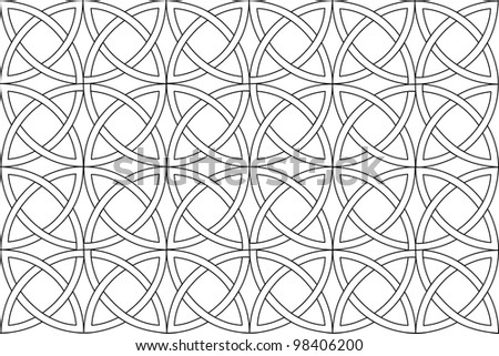 seamless pattern of rounds - stock vector
