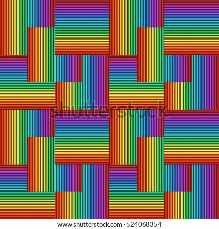Seamless pattern of stripes of the rainbow.Vector illustration.