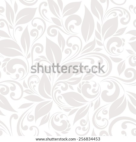Seamless pattern of stylized leaves and branches