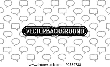 seamless pattern of text frames background - stock vector