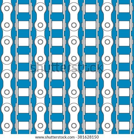 Seamless pattern of the bike chains - stock vector