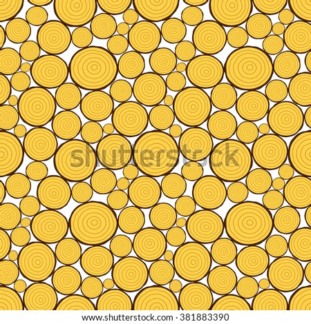 Seamless pattern of the cutting fuelwood background - stock vector
