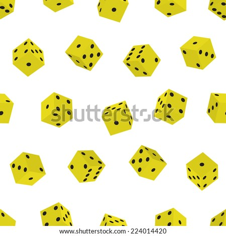 Seamless pattern of the dice  - stock vector