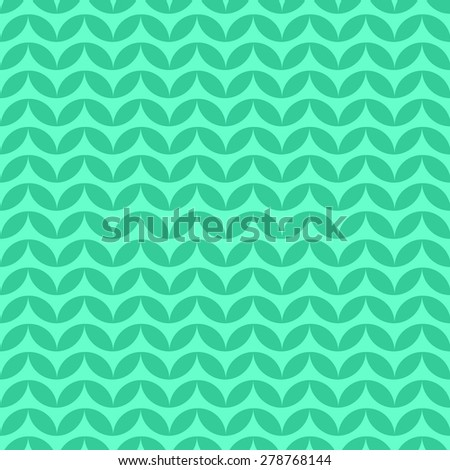 Seamless pattern of the elements of a circle of petals arranged in a row in a line deployed up and down the green light
