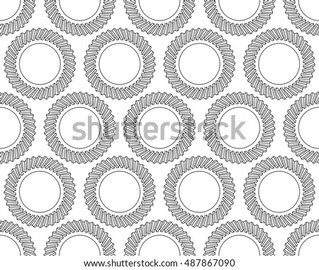 Seamless pattern of the helical gears