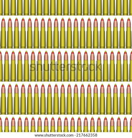 Seamless pattern of the tracer cartridge ammunition