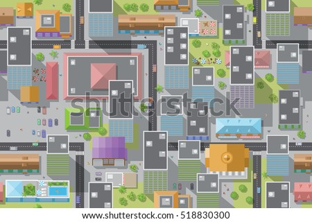 Cartoon Street Map Stock Images Royalty Free Images