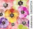 Seamless pattern of Tulips flowers. Vector illustration, EPS 10  - stock vector