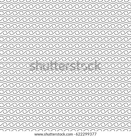 Seamless pattern of wavy lines. Geometric wallpaper. Vector illustration. Good quality. Good design.