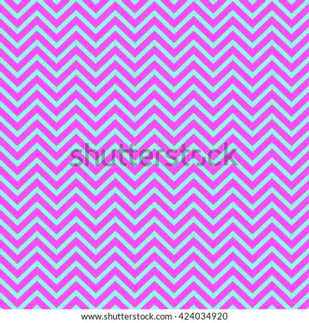 Seamless pattern of zigzag, pink and blue color