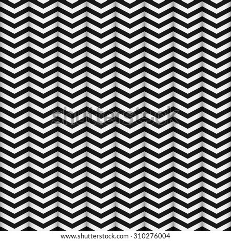 Seamless pattern of zigzag zebra lines. Abstract background.