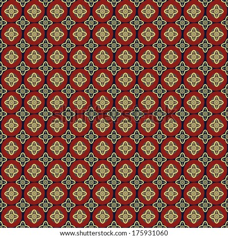 Seamless pattern on a dark background of decorative elements.Vector.