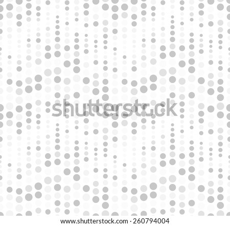 Seamless pattern on a white background. Has the shape of a wave. Consists of geometric elements in gray. Useful as design element for texture, pattern and artistic compositions. - stock vector