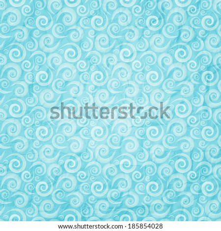 seamless pattern on shabby paper texture - stock vector