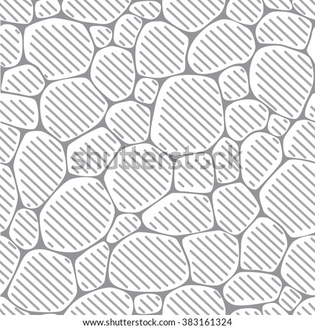 Seamless pattern or background of paving stones - stock vector