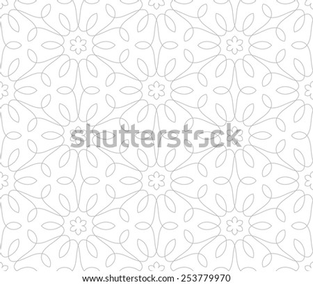 Seamless pattern. Ornament of lines and curls. Linear abstract background. - stock vector