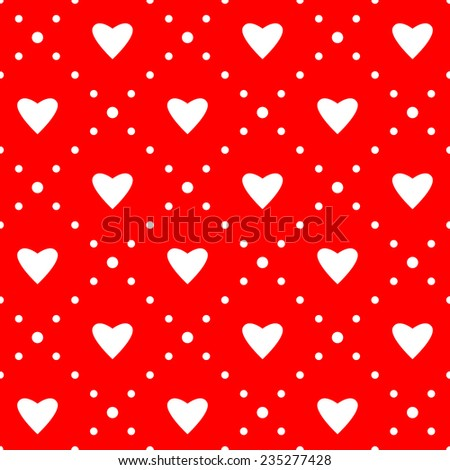 Seamless pattern. Ornament with hearts. Holiday background - stock vector