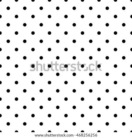 Seamless Pattern Pois Dot Pattern Background Stock Vector 468256256 ...