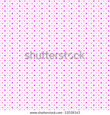 Seamless pattern pois pink - stock vector