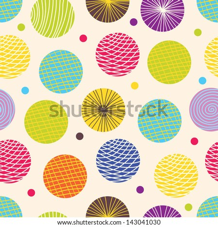 Seamless pattern, polka dot fabric, wallpaper, vector. Seamless pattern can be used for wallpaper, pattern fills, web page background, surface textures. - stock vector