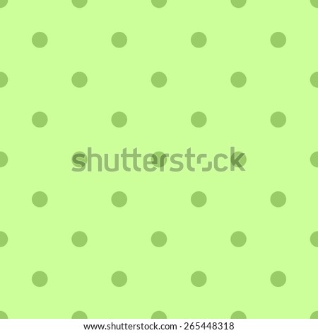 Seamless pattern polka dot style green and light green, pale green color - stock vector