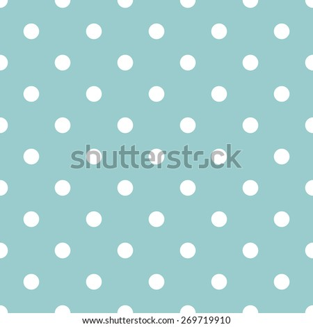 Seamless pattern polka dot style pale aquamarine gray and white - stock vector