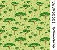 Seamless pattern savanna tree, vector illustration - stock vector