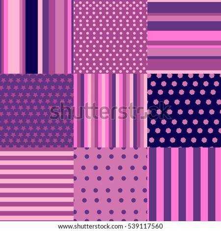 Seamless pattern set geometric background