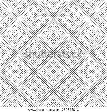 Seamless pattern. Simple classical texture with the repeating geometrical shapes, dots, rhombuses. Monochrome. Backdrop. Web. Vector element of graphic design - stock vector