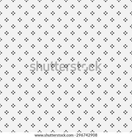 Seamless pattern. Simple classical texture with the repeating geometrical shapes, rhombuses, diamonds. Monochrome. Backdrop. Web. Vector element of graphic design - stock vector