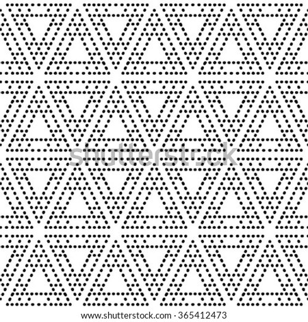Seamless pattern. Simple diagonal texture. Repeating geometrical shapes, dotted lines, dots. Black and white pattern.