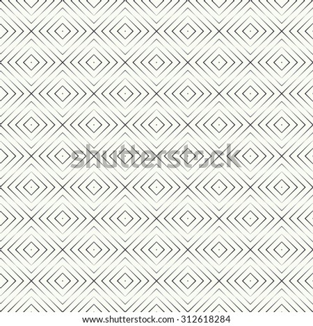 Seamless pattern. Simple linear texture. Regularly repeating geometrical elements, shapes, crossed lines, rhombuses, diamonds. Simple linear mosaic. Backdrop. Web. Vector element of graphic design