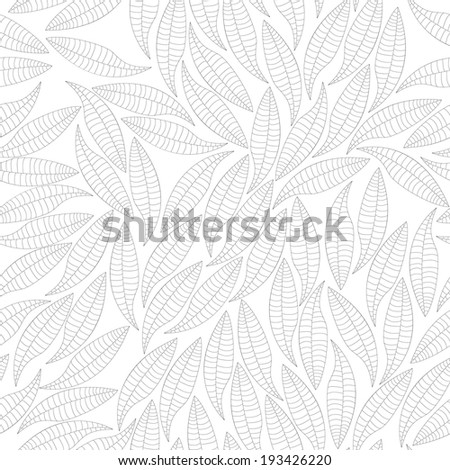 seamless pattern simple monochrome leaves. vector illustration