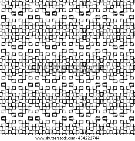 Seamless pattern. Simple texture with the repeating geometrical shapes, dots. Monochrome. Backdrop. Web. Vector element of graphic design