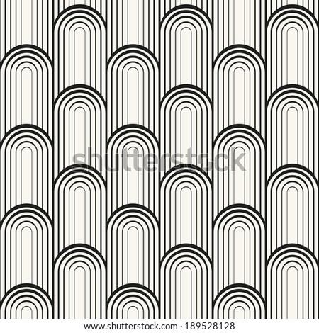 Seamless pattern. Smooth scaled ornament. Geometric stylish background. Vector repeating texture