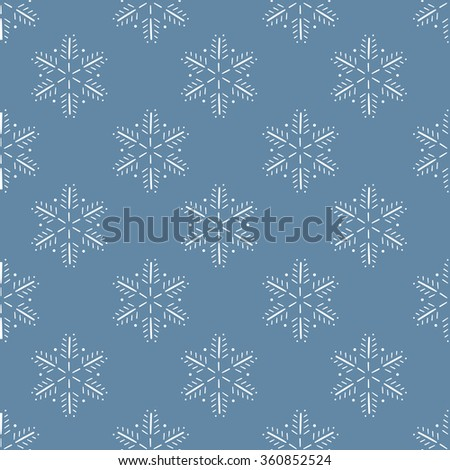 seamless pattern,snowflake art  background design for fabric and decor