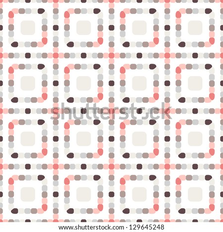 Seamless pattern. Squares of the dots - stock vector
