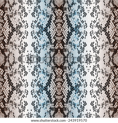 seamless pattern structure snakeskin - stock vector